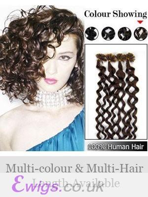 """20"""" 100% Human Hair Wavy Nail Tip Extensions"""