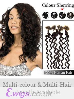"""20"""" Wavy Nail Tip Real Hair Extensions"""
