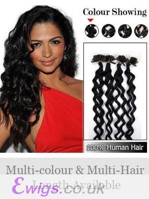 """Perfect 20"""" 100% Human Hair Wavy Nail Tip Extensions"""