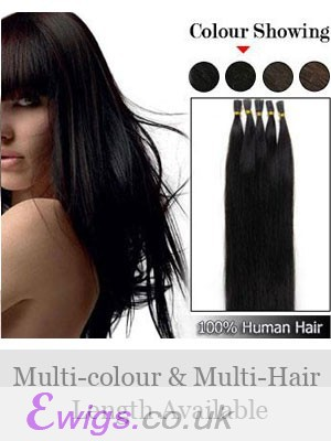 "High Quality 18"" 100% Human Hair Stick Tip Extensions"