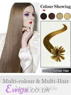 "18"" 100% Human Hair Fashionable Nail Tip Extensions"