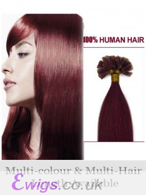"""High Quality 20"""" Nail Tip Straight Remy Human Hair Extension"""
