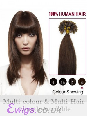 """Nice 16"""" Nail Tip Straight Remy Human Hair Extension"""