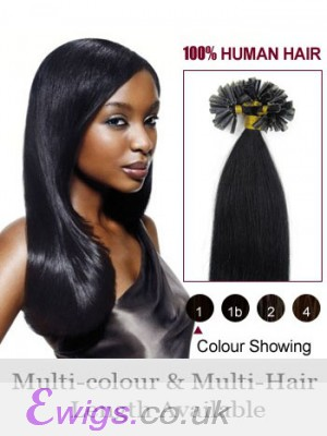 """Gorgesous 16"""" Nail Tip Straight Remy Human Hair Extension"""
