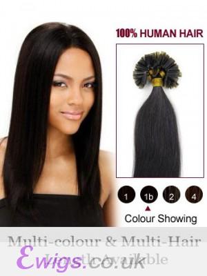 "22"" Comfortable Straight Human Hair Nail Tip Extension"