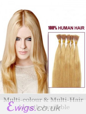 """16"""" Strawberry Stick Tip Human Hair Extensions"""