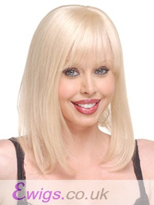Natural Stright Blonde Monofilament Top Hairpieces