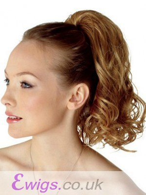 Synthetic Tumble Palm Clip Ponytail