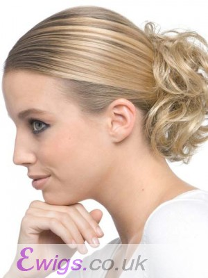 Blonde Soft Curly Scrunchie Style Wrap