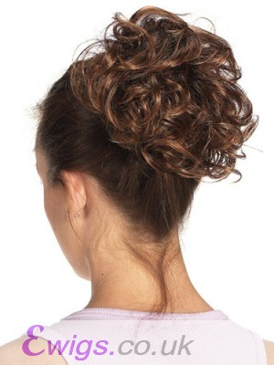 Curly Synthetic Wrap With Claw Clip