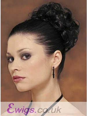 Black Flurry Curly Scrunchie Style Wrap