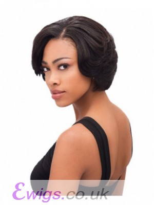 Amazing Short Lace Front Straight Human Hair Wig