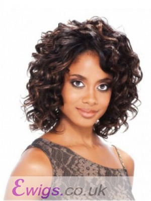 Durable Lace Front Short Human Hair Wig Without Bangs
