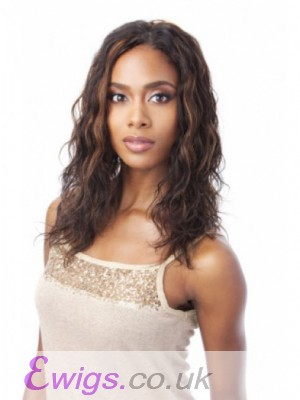 Comfortable Lace Front Long Human Hair Wig Without Bangs