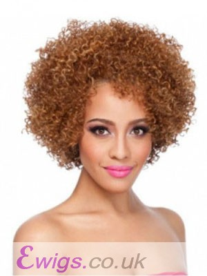 Modern Medium Curly African American Wigs