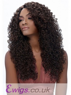 Attractive Curly Long African American Wig Without Bangs