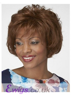 Feathered Synthetic Lace Front Bob Wig