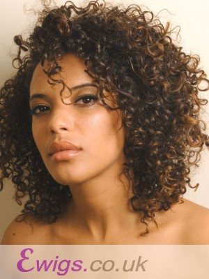 Pretty Curly Lace Front Remy Human Hair Wig