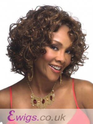 Smooth Curly Lace Front Remy Human Hair African American Wig