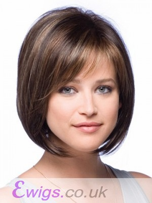 Short Modern Full Lace Straight Bob Wig