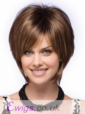 Natural Straight Tousled Short Bob Wig