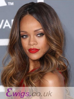 Rihanna Glueless Lace Dip Dye Hairstyle Long Wavy Wig
