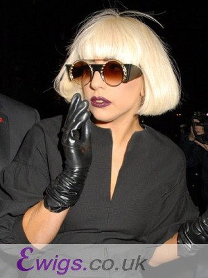 Lady Gaga Short Straight Capless Wig For Woman