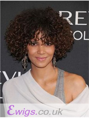 Halle Berry Curly Full Lace Human Hair Wig
