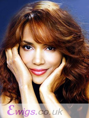 Halle Berry Wavy Long Human Hair Lace Front Wig