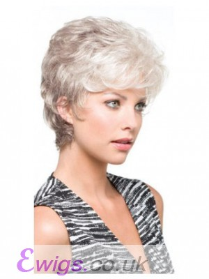 Synthetic Carefree Side Parting Grey Wig