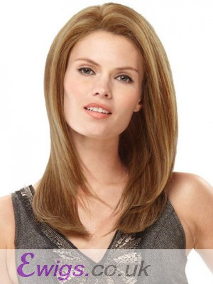"16"" Silky Straight Human Hair Monofilament Wig"