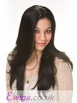 Chic Long Natural Straight Human Hair Wig
