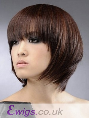 Sweet Short Straight Human Hair Wig