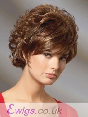 Classic Short Wavy Cut Remy Human Hair Wig