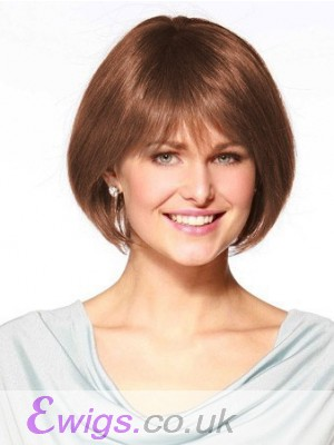 Mid-Length Human Hair Full Lace With Mono Top Bob Wig