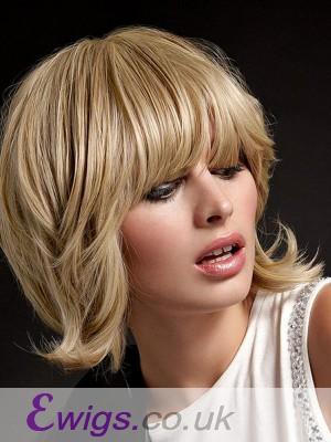 Straight Medium Length Remy Human Hair Capless Wig