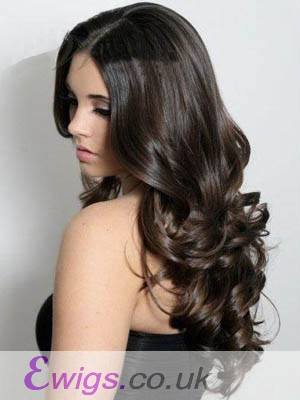 Wonderful Lace Front Human Hair Wavy Wig