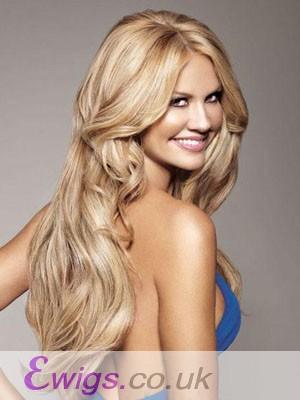 Human Hair Full Lace Long Length Wavy Wig