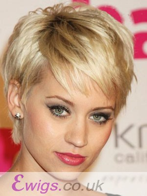 Charming Short Straight Full Lace Remy Human Hair Wig