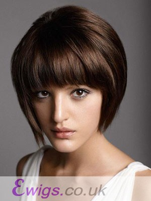 Gorgeous Short Straight Capless Remy Human Hair Wig