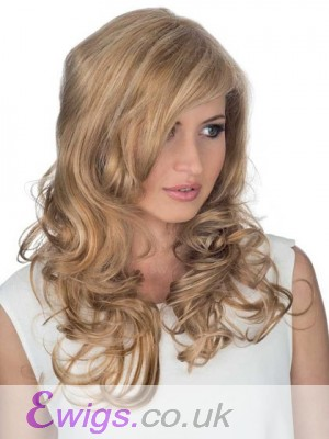 Side Parting Lace Front Wavy Remy Hair Wig
