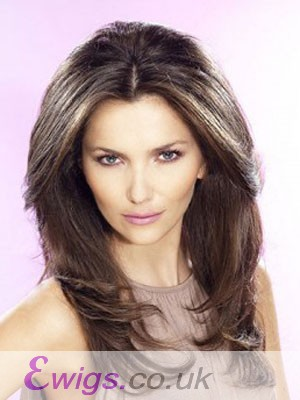 Dazzling Long Human Hair Lace Front Wig