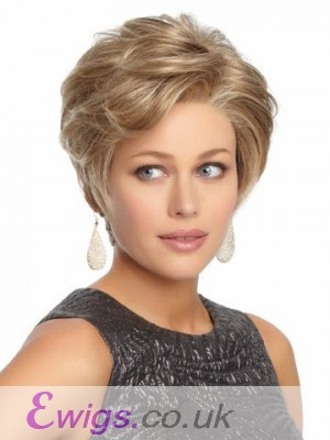 Short Cute Lace Front Synthetic Wavy Wig