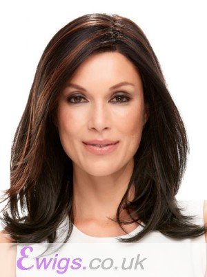 Glamorous Straight Remy Human Hair Lace Front Wig