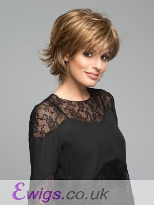 Synthetic Bob Style Wig With Wispy Ends