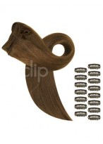 """16"""" Straight Clip In Remy Hair Extensions"""