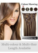 """7 Pcs From 14""""(70G) Natural Straight Clip In Full Head Set"""