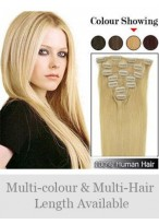 """Nice 7 Pcs From 14"""" Straight Clip In Full Head Set"""