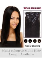 "24"" Charming Straight Remy Hair Extension With Clips"