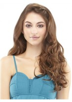 "Glamorous 16"" Deluxe Human Hair Clip-In Extensions"